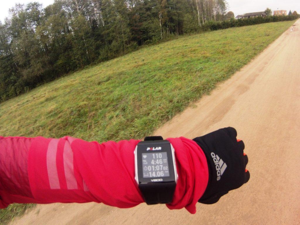 Puls 110 przy tempie 4:46 min/km, efekt zmęczenia organizmu. Czas odpocząć.